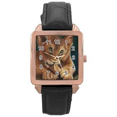 Playful  Rose Gold Leather Watch