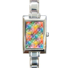 Circles Rectangular Italian Charm Watch