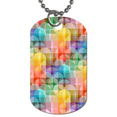 Circles Dog Tag (two Sided)