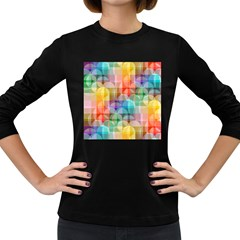 circles Women s Long Sleeve T-shirt (Dark Colored)