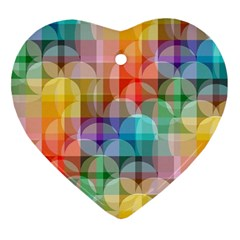 circles Heart Ornament (Two Sides)