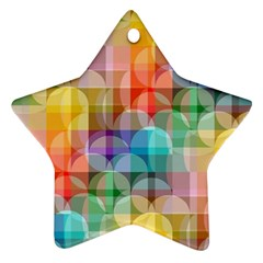 circles Star Ornament (Two Sides)