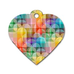 Circles Dog Tag Heart (one Sided)