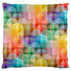 Circles Large Cushion Case (two Sided)