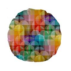 circles 15  Premium Round Cushion