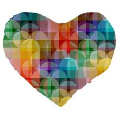 circles 19  Premium Heart Shape Cushion