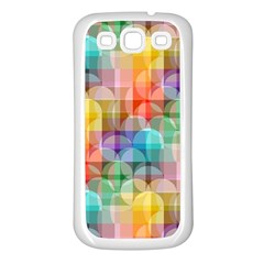 circles Samsung Galaxy S3 Back Case (White)