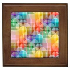 Circles Framed Ceramic Tile