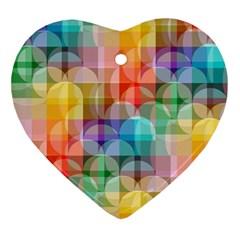 circles Heart Ornament
