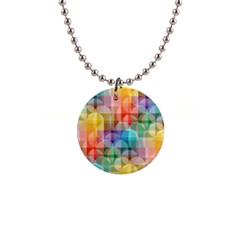 circles Button Necklace