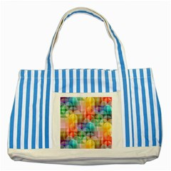 circles Blue Striped Tote Bag