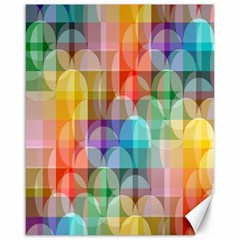 circles Canvas 16  x 20  (Unframed)