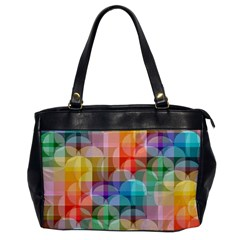 circles Oversize Office Handbag (One Side)