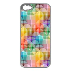 circles Apple iPhone 5 Case (Silver)