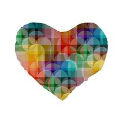 circles 16  Premium Heart Shape Cushion