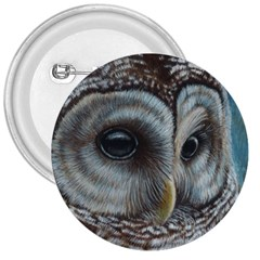 Barred Owl 3  Button