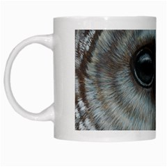 Barred Owl White Coffee Mug