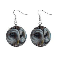 Barred Owl Mini Button Earrings