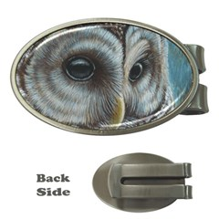 Barred Owl Money Clip (Oval)