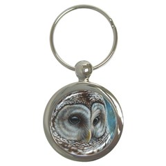 Barred Owl Key Chain (Round)
