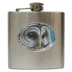 Barred Owl Hip Flask