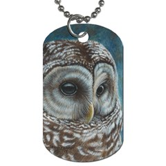 Barred Owl Dog Tag (Two-sided)