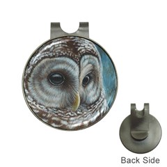 Barred Owl Hat Clip With Golf Ball Marker
