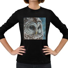 Barred Owl Women s Long Sleeve T Shirt (dark Colored)