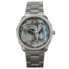 Barred Owl Sport Metal Watch