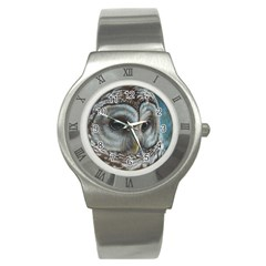 Barred Owl Stainless Steel Watch (slim)