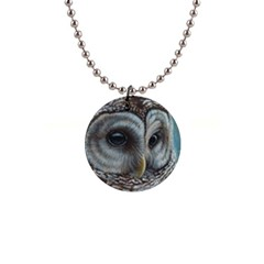 Barred Owl Button Necklace