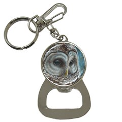 Barred Owl Bottle Opener Key Chain