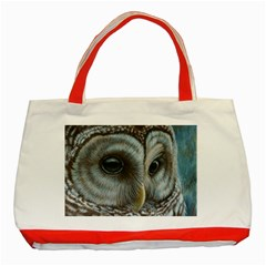 Barred Owl Classic Tote Bag (Red)
