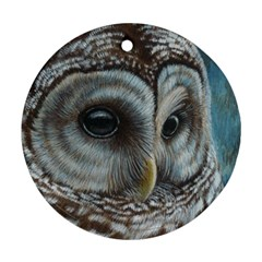 Barred Owl Round Ornament (two Sides)