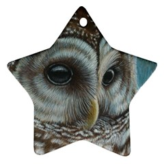 Barred Owl Star Ornament (Two Sides)