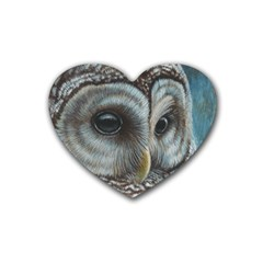 Barred Owl Drink Coasters (heart)