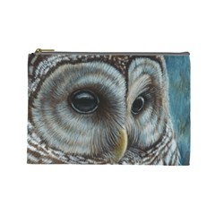 Barred Owl Cosmetic Bag (large)