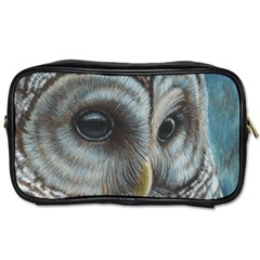 Barred Owl Travel Toiletry Bag (Two Sides)
