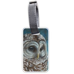 Barred Owl Luggage Tag (two Sides)