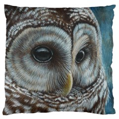 Barred Owl Large Cushion Case (Two Sided)
