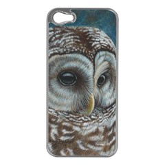 Barred Owl Apple iPhone 5 Case (Silver)