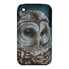 Barred Owl Apple Iphone 3g/3gs Hardshell Case (pc+silicone)