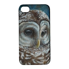 Barred Owl Apple iPhone 4/4S Hardshell Case with Stand