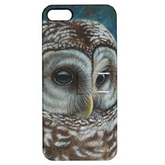 Barred Owl Apple Iphone 5 Hardshell Case With Stand