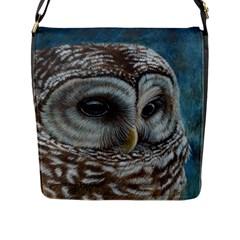 Barred Owl Flap Closure Messenger Bag (Large)