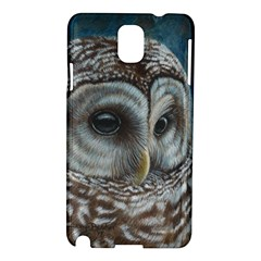 Barred Owl Samsung Galaxy Note 3 N9005 Hardshell Case