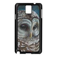 Barred Owl Samsung Galaxy Note 3 N9005 Case (Black)