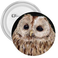 Tawny Owl 3  Button