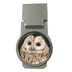 Tawny Owl Money Clip (round)