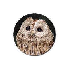 Tawny Owl Drink Coasters 4 Pack (Round)